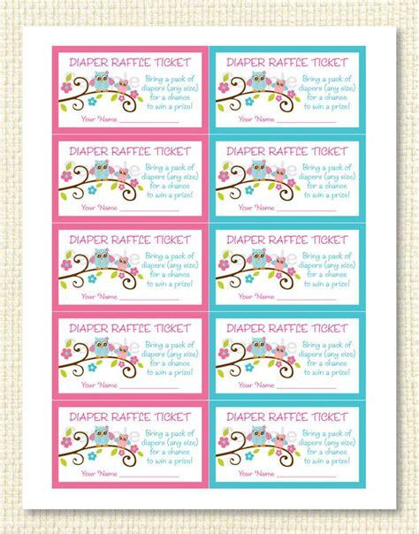 free diaper raffle tickets printable new calendar