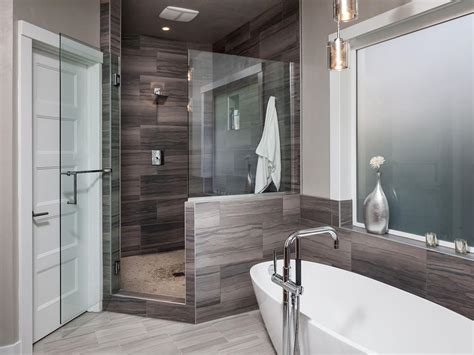 Modern Spa Bathroom by Modern And Masculine Spa Bathroom Hgtv