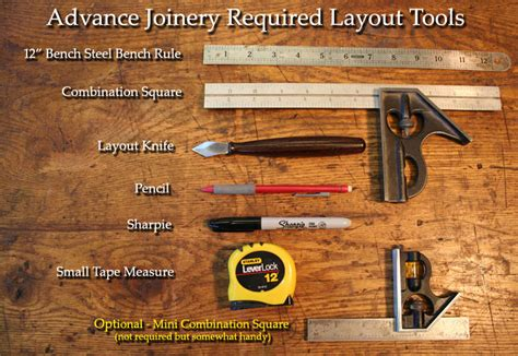 school woodwork tools required tool list