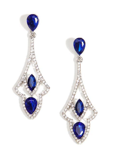 blue chandelier earrings glamorous sapphire chandelier earrings happiness boutique