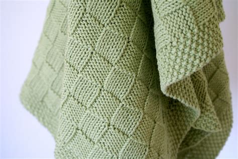 basket weave knitting pattern basketweave blanket in sublime organic cotton