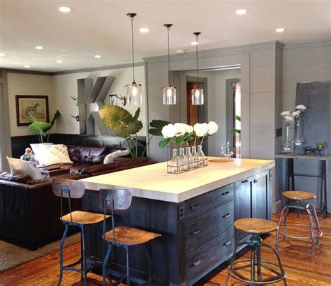 kitchen pendant lighting houzz keegan kitchen family room contemporary kitchen