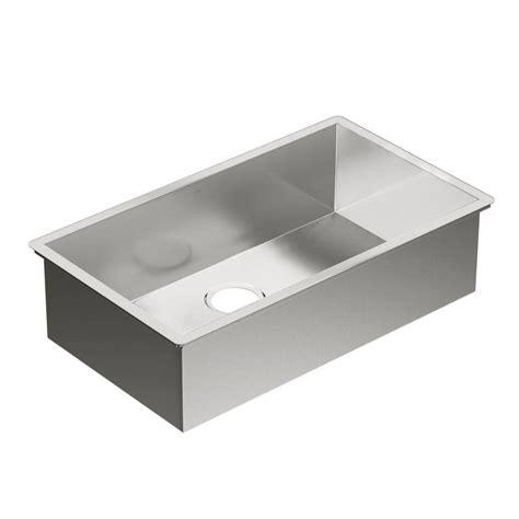 moen undermount kitchen sinks moen 1800 series undermount stainless steel 31 in 0