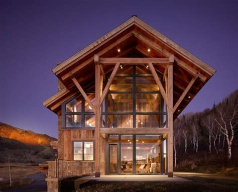 woodworking colorado eco friendly modern rustic resindence in colorado digsdigs