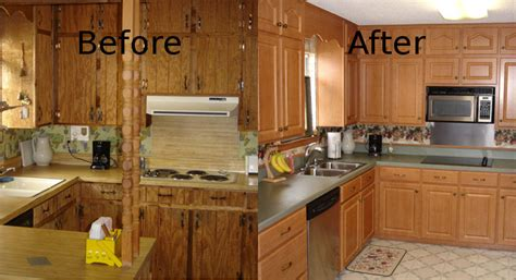 refacing kitchen cabinets before and after cabinet refacing pensacola kitchen cabinet restoration