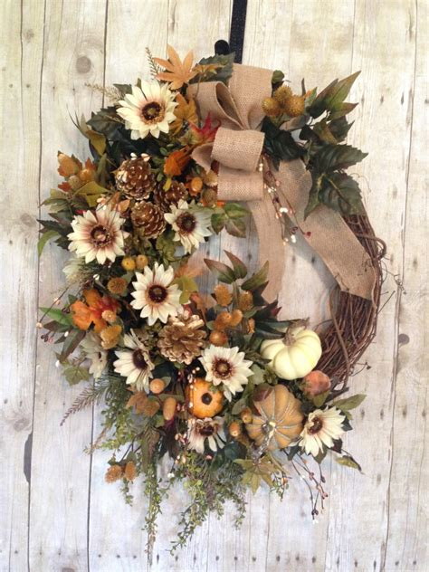 wreath for sale on sale fall wreath fall wreath for front door by spratsdesign