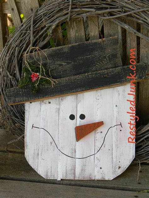 rustic craft projects rustic wood snowman allfreechristmascrafts