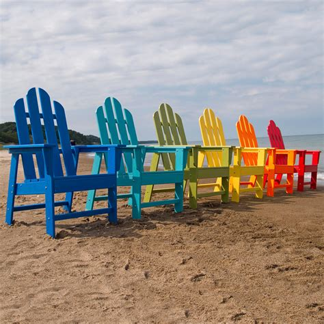 Colorful Adirondack Chairs by Polywood 174 Island Recycled Plastic Adirondack Chair