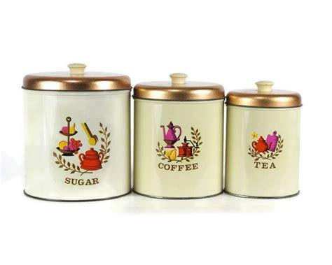 vintage kitchen canister sets vintage kitchen canister set americana design 1960s