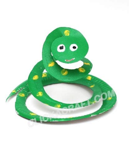 craft ideas using paper plates for zoo animals and snakes on