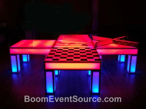 ping pong lights led light up ping pong table