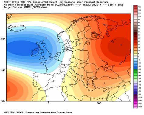 range seasonal forecast severe weather europe