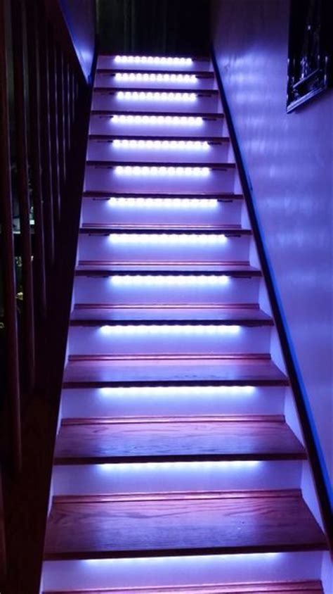 solar lights for stairs led neopixel motion sensor stair lighting