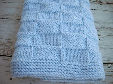 basketweave knit afghan pattern blue knit blanket knit basketweave afghan boy knitted