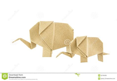 origami baby elephant origami elephant and baby elephant recycle paper stock