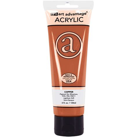 acrylic paint 4 oz copper 4 oz 120 ml acrylic paint advantage