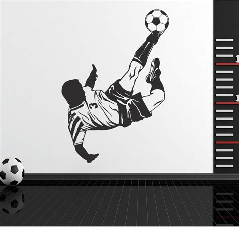 soccer wall stickers wallstickers folies soccer player wall stickers