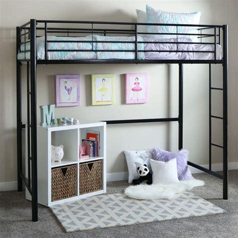metal frame loft beds walker edison sunset metal loft bunk bed in black