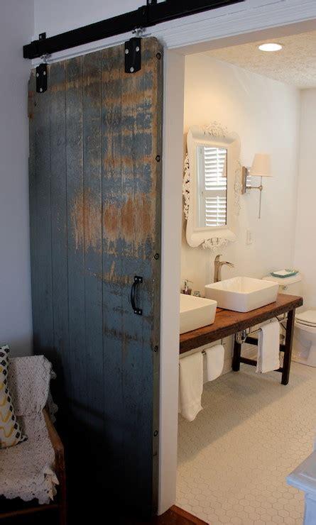 barn bathroom door bathroom barn door eclectic bathroom