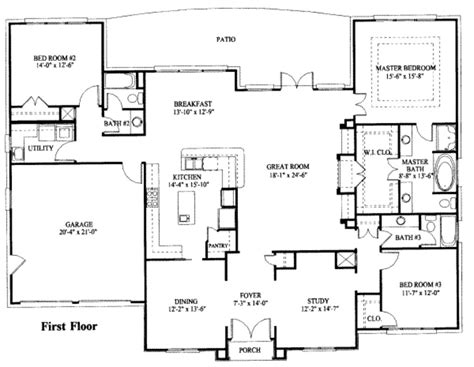 new home floor plans free beautiful one story house plans with basement new home plans design