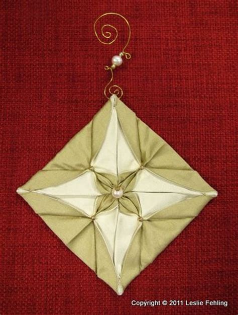 fabric origami ornaments 1000 images about ornaments on