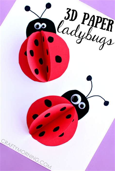 3d craft for 3d paper ladybug craft for crafty morning