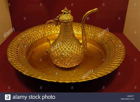 ottoman period tombak gilded copper basin and ewer ottoman period 1869