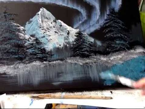bob ross painting northern lights painting the northern lights bob ross style
