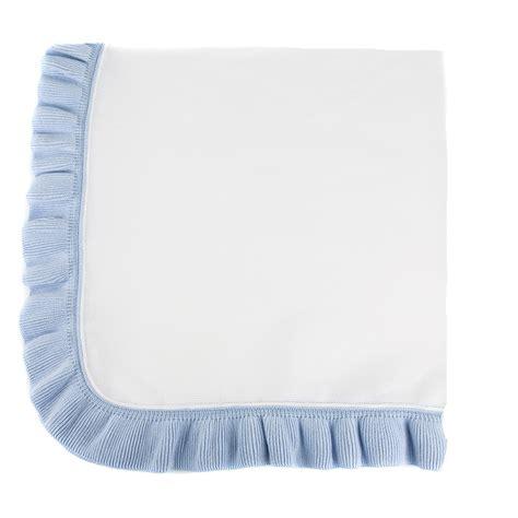 jersey knit blanket jersey knit ruffle blanket light blue