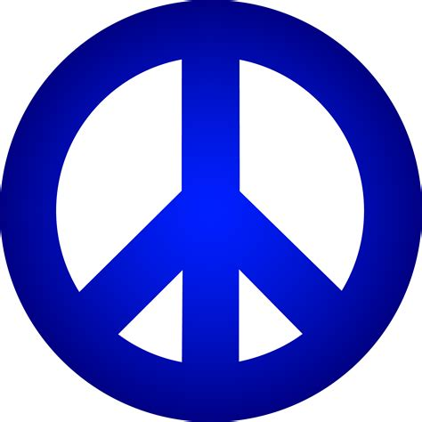 peace sign blue peace sign free clip