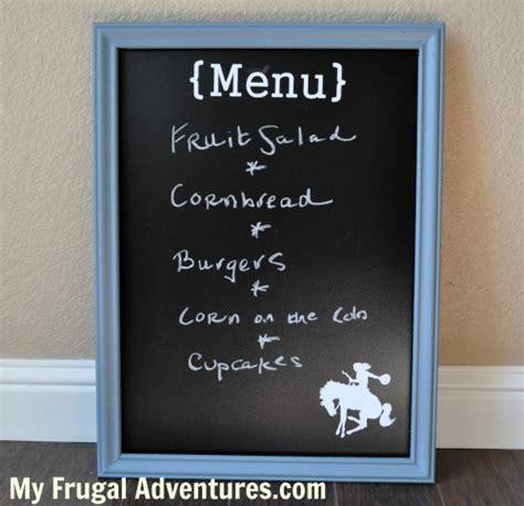 diy chalkboard board easy diy framed chalkboard my frugal adventures