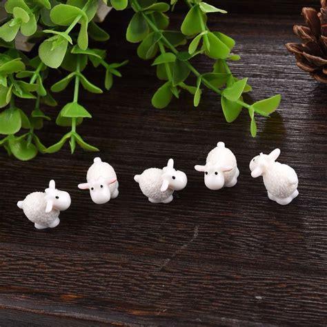 Garden Accessories Sale Uk 5pcs Set Kawaii Mini Sheep Animals Home Micro