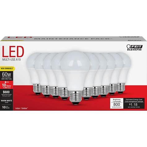 home depot led light bulbs trending in the aisles multi pack led light bulbs by feit