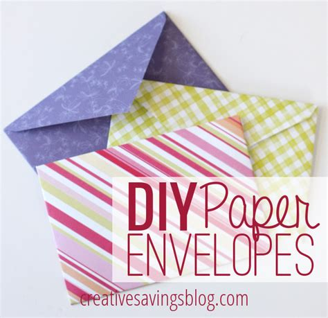 how to make envelopes for cards diy paper envelopes creative savings