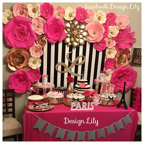 pink decorations decorations kate spade white black pink fusia and gold