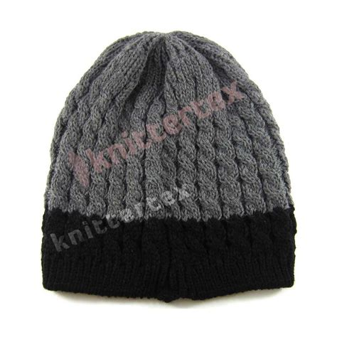 cable knit beanie cable knit plastic badged beanie knittertex