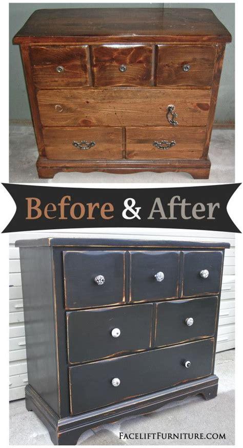 chalk paint furniture in black 25 best ideas about black distressed dresser on