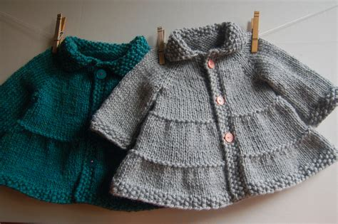 easy knitting pattern for coat tiered baby coat and jacket