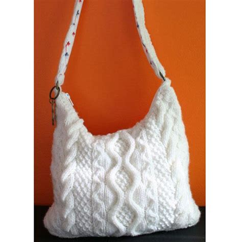 knit bag pattern cable bag by knitca craftsy