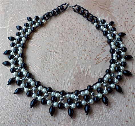 free beaded jewelry patterns free pattern for necklace black goddess magic