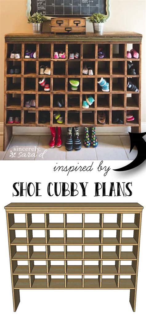 shoe cubby woodworking plans build your own shoe cubby with remodelaholic sincerely