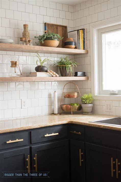 open shelving for kitchen kitchen reveal with cabinets and open shelving