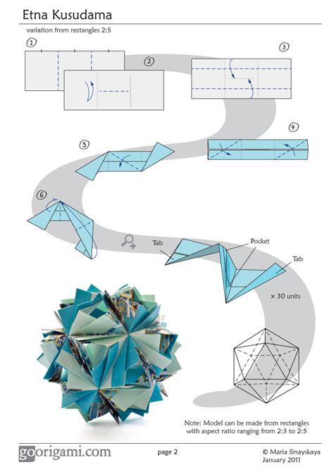 origami diagram etna kusudama by sinayskaya diagram go origami