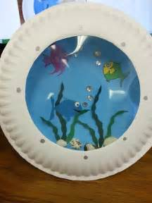 paper fish bowl craft misadventures of a ya librarian porthole fish craft