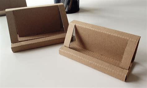 make business card holder runaway prototype design cardboard business card holder