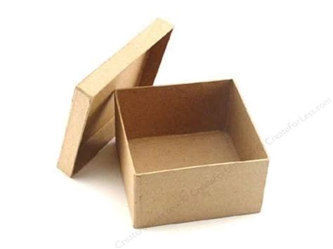 paper mache craft boxes paper mache square box 4 1 2 in by craft pedlars 24