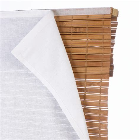 l shades with light filtering privacy liner for bamboo shade