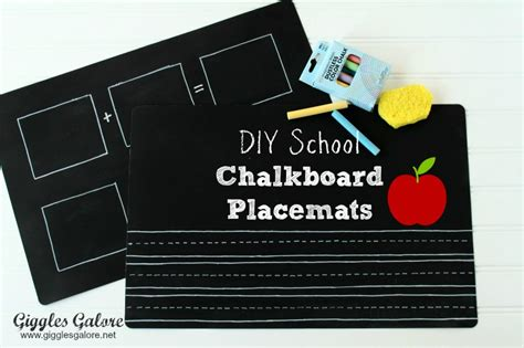 diy chalkboard placemats show tell no 61 back to school ideas tauni co