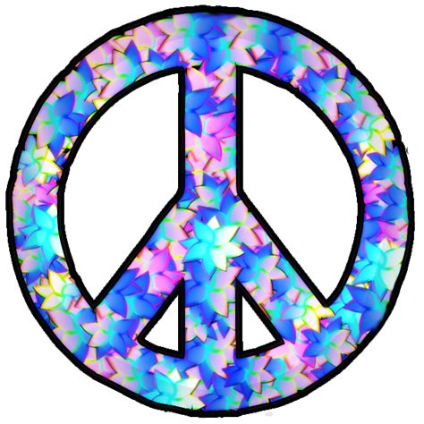 peace sign flowery peace sign clipart best clipart best