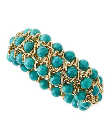 Jules Smith Beaded Stretch Bracelet In Gold Yellow Gold